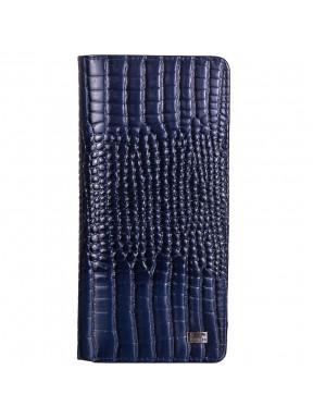 Кошелек женский кожаный Desisan 321-634 синий кроко лак