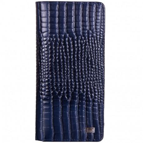 Кошелек женский кожа Desisan 321-634 синий кроко лак
