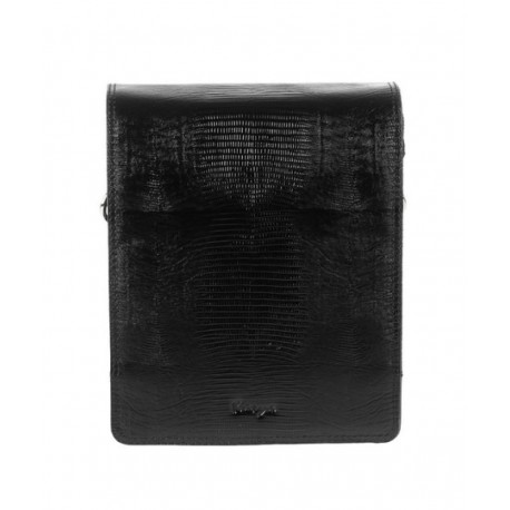 Барсетка мягкая кожа KARYA 0366-076 черный лазер