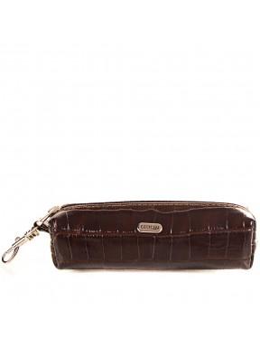 Ключница кожа Desisan 207-19 коричневый кроко