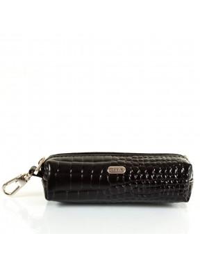 Ключница кожа Desisan 207-633 черный кроко лак