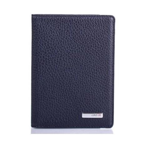 Обложка для паспорта кожа KARYA 092-44 синий флотар
