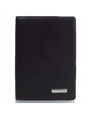 Обложка для паспорта кожа KARYA 092-45 черный флотар