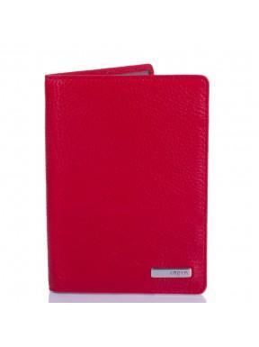 Обложка для паспорта кожаная KARYA 092-46 красный флотар