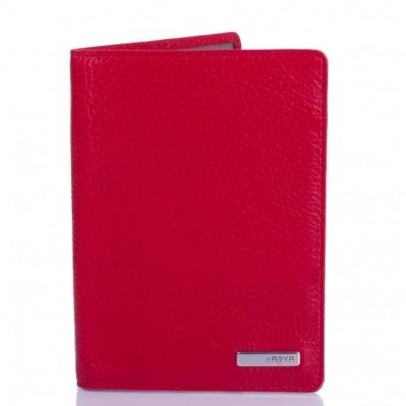 Обложка для паспорта кожа KARYA 092-46 красный флотар