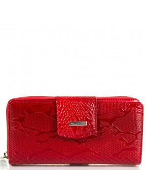 Кошелек женский кожаный KARYA 1119-019 красный узор