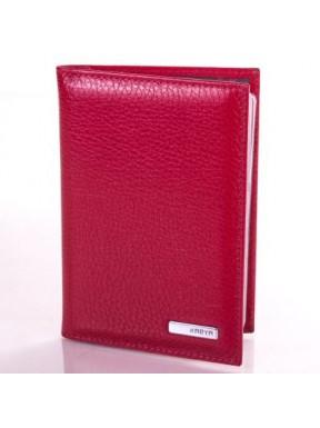 Обложка для авто  кожа KARYA 0428-46 красный флотар