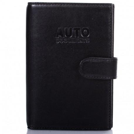 Обложка авто+паспорт  кожа Desisan 102-1 черный гладкий
