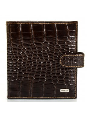 Визитница кожа Desisan 210-19 коричневый кроко