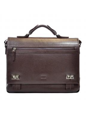 Портфель мягкий кожаный BOND 1109-286 коричневый
