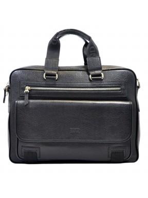 Портфель мягкий кожаный BOND 1364-281 черный флотар