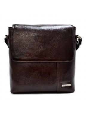 Барсетка  кожа мягкая Desisan 1324-019 коричневый флотар