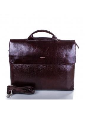 Портфель кожа Desisan 1312-019 коричневый флотар