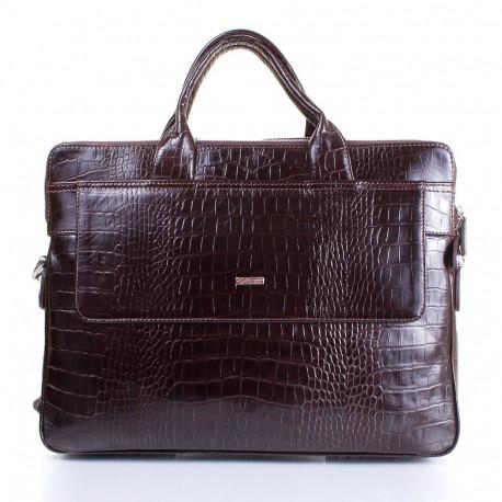 Портфель кожа Desisan 1348-19 коричневый кроко