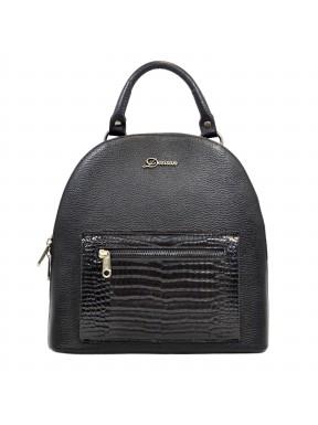 Рюкзак кожа Desisan 6001-011 черный флотар