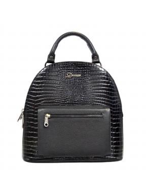 Рюкзак кожа Desisan 6001-633 черный мелкий кроко