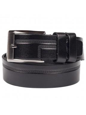 Ремень кожаный GRASS джинсы 4см 4-2085-01 черный