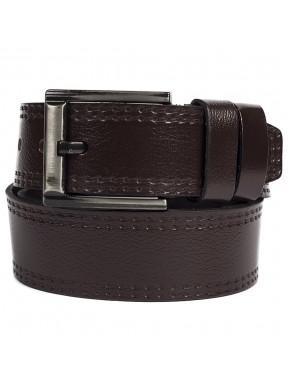 Ремень кожаный GRASS джинсы 5 см 3000-02 коричневый