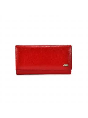 Женское портмоне из натуральной кожи CANPEL 157-172 красный флотар