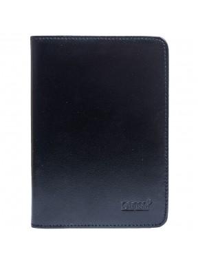Обложка для паспорта кожа GRASS 570-1 черн гладкий