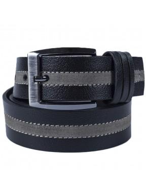 Ремень кожаный GRASS джинсы 4см 4-801-01 черный