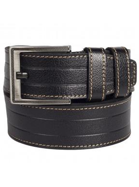 Ремень кожаный GRASS джинсы 5 см 2010-01 черный