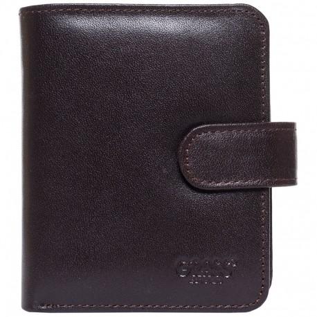 Визитница+ портмоне кожа GRASS 519-4 коричневый гладкий