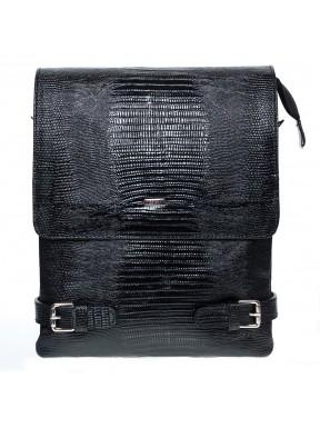 Барсетка кожа мягкая Desisan 1327-143 черный лазер