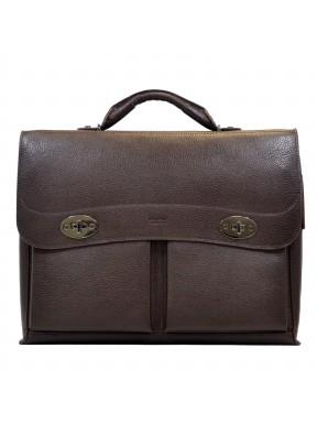 Портфель мягкий кожаный BOND 1223-286 коричневый
