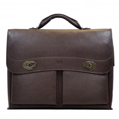 Портфель мягкий кожа BOND 1223-286 коричневый