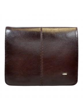Сумка мягкая А4 формат кожаная 1319-019 коричневый флотар