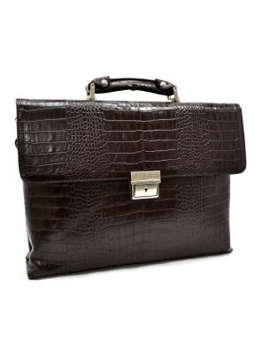 Портфель кожа KARYA 0152-57 коричневый кроко