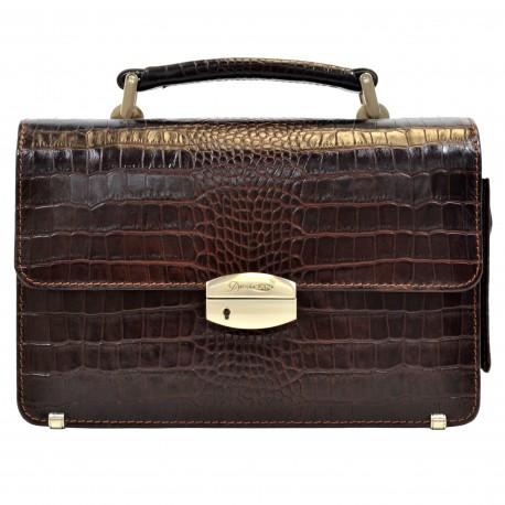 Барсетка кожа Desisan 1086-19 коричневый кроко