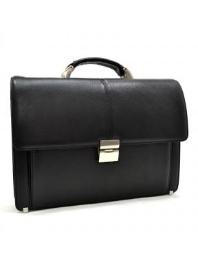 Портфель кожаный KARYA 0229-45 черный флотар