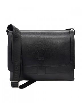 Портфель мягкий кожаный BOND 1123-281 черный флотар
