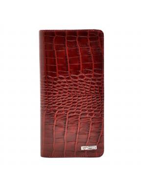 Кошелек женский кожа Desisan 321-44 красный кроко