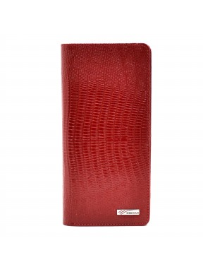 Кошелек женский кожа Desisan 321-131 красный лазер