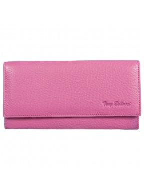 Кошелек женский кожа Tony Bellucci T852-207 розовый флотар